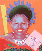 Stunning Andy Warhol, Edition Prints Reigning Queens - Queen Ntombi Twala Of Swaziland [Ii.346], 1985