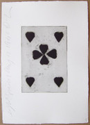 Beautiful Donald Sultan, Playing Cards (Eight Of Spades), 1990