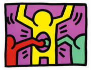 Beautiful Haring Edition Prints, Pop Shop I #3, 1987