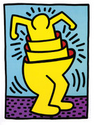 Dynamic Haring Edition Prints, Untitled (Cup Man), 1989