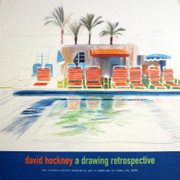 Rare Hockney Eight Sunchairs by a Pool
