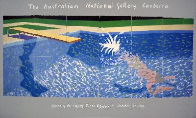 Exciting David Hockney A Diver From Paper Pools America