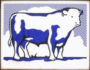 Beautiful Lichtenstein Bull II SIGNED