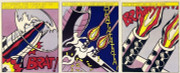 Dynamic Roy Lichtenstein 3 PRINT COLLECTION SUITE  As I Opened Fire Triptych