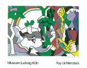 Rare Lichtenstein Landscape With Figures Lg