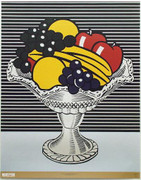 Beautiful Lichtenstein Still Life with Crystal Bowl