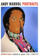 Fabulous Warhol Portrait of Russell Means