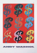 Dynamic Warhol-Nine Dollar Signs