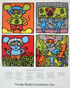 Keith Haring Keith and Andy and Andy Mouse