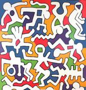 Keith Haring Untitled (Palladium Backdrop detail)