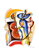 Alfred Gockel Lady Plays the Blues Art Print