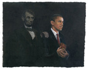 Consuelo Gamboa Inspiration (Barack Obama & Abraham Lincoln) Signed Limited Edition Art Giclee on canvas ed. 500