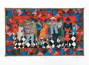 Faith Ringgold Groovin' High Signed serigraph ed. 425 Limited Edition Art Print