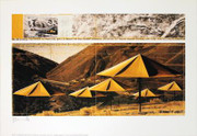Christo The Umbrellas, Joint Project for Japan USA, Japan Site (Yellow) SIGNED