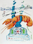 Rare Cybernetic Lobster Telephone, Ltd Ed Lithograph, Salvador Dali