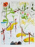 Stunning Biological Garden, Ltd Ed Mixed Media (Lithograph & Collage), Salvador Dali