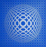 Fab! Responses a Vasarely: Tuz, Ltd Ed Silk-screen, Victor Vasarely