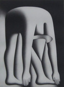 Fabulous Body by Jake, Ltd Ed Mezzotint Etching, Mark Kostabi