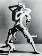 Great Climbing, Ltd Ed Silk-screen, Mark Kostabi