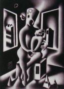 Rare Oedipus, Ltd Ed Mezzotint Etching, Mark Kostabi
