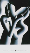 Fab! Dream Team, 1985 Exhibition Poster, Mark Kostabi
