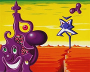 Spelndid Sajippe Kraka Joujesh, Ltd Ed Silk-screen, Kenny Scharf - Large!