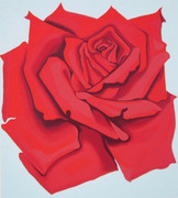 Stunning Red Rose, Ltd Ed Silk-screen, Lowell Nesbitt