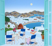 Fabulous Mykonos Terrace, Ltd Ed Silk-screen, Thomas McKnight
