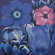 Beautiful Violet Monochrome, Ltd Ed Silk-screen, Lowell Nesbitt