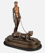 Beautiful La Femme a la Panthere (Bronze), Ltd Ed, Erte - Mint!