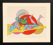 Splendid Eternal Bubble Dance Serigraph, Peter Max - Signed