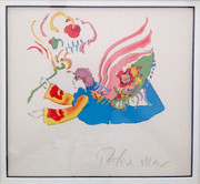 Fabulous Flower Angel II Lithograph, Peter Max - Signed