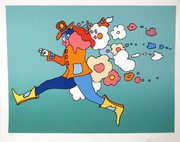 Beautiful Flower Jumper Serigraph, Peter Max - Signed