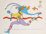 Fab! Universal Runner Silk-screen, Peter Max - Signed