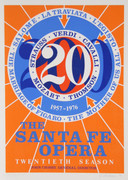 Dynamic Robert Indiana, The Santa Fe Opera, 1976