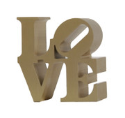 Beautiful Robert Indiana, Miniature Love Sculpture Gold, Circa 2000