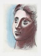Pablo Picasso Estate Collection Portrait de Femme a Trois Quart Gauche Hand Signed with COA