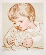 Pablo Picasso Estate Collection Enfant Deieunant Hand Signed with COA