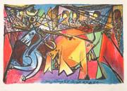 Pablo Picasso Estate Collection Course de Taureaux Hand Signed with COA