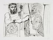 Pablo Picasso Estate Collection Etude pour Lesistratas Hand Signed with COA