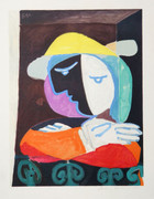 Pablo Picasso Estate Collection Femme au Balcon Hand Signed with COA