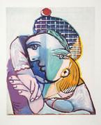 Pablo Picasso Estate Collection Portrait se Femme au Veret Escossais Hand Signed with COA