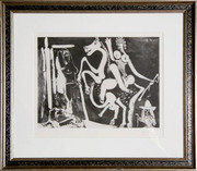 Pablo Picasso, Femme à Cheval - 347 Series, 1968, Etching - Signed with COA