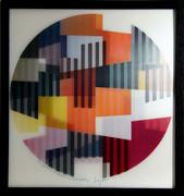 Fabulous Untitled Agamograph,Yaacov Agam - Signed