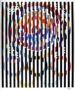 Fabulous Message of Peace Silk-Screen,Yaacov Agam - Signed