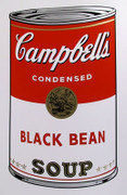Andy Warhol Campbell Soup Can (Black Bean) Sunday B Morning Silkscreen Print