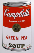 Andy Warhol Campbell Soup Can (Green Pea) Sunday B Morning Silkscreen Print