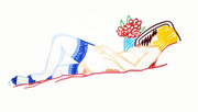 Hand Signed Nude With Bouquet And Stockings By Tom Wesselmann Retail $51K