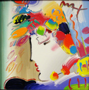 Hand Signed Blushing Beauty By Peter Max