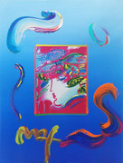 Hand Signed Blushing Beauty (Overpaint) By Peter Max Retail $5.5K